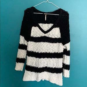 Free People Nubby Knit Striped Sweater